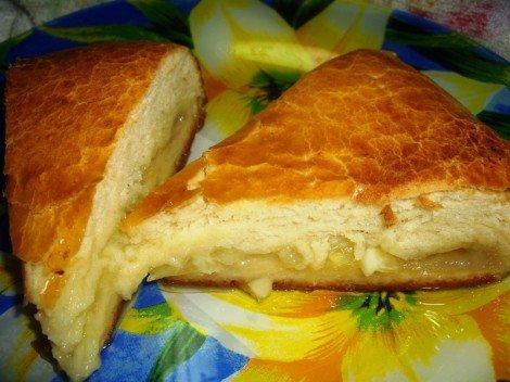 Лимонный пирог на дрожжевом тесте