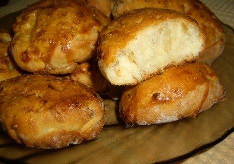 Хлебцы с жареным луком