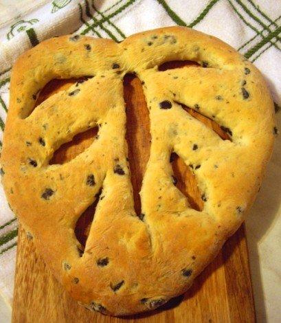 Хлеб фугасс с оливками