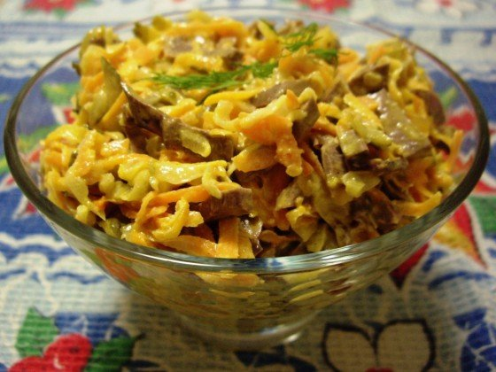 Фото к рецепту салата обжорки